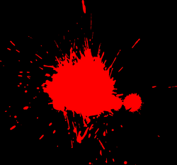 red paint splat png