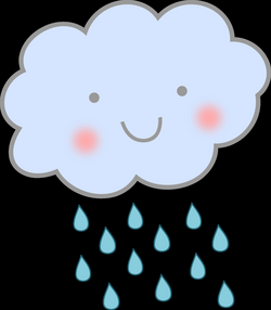 Cute Rain Cloud Icons PNG - Free PNG and Icons Downloads