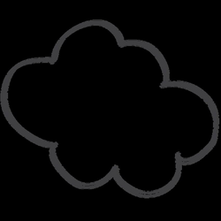 Cartoon comic speech doodle cloud - Transparent PNG & SVG vector