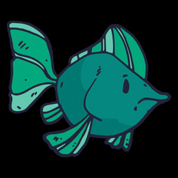 Green fish cartoon - Transparent PNG & SVG vector