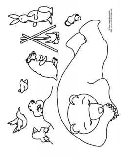Amazing Hibernation Coloring Pages Page Bear Hibernating Best Of ...
