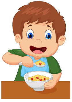 cereal clipart child