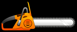 Chainsaw clipart simple - Pencil and in color chainsaw clipart simple