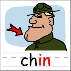 Clip Art: Basic Words: -in Phonics: Chin Color I abcteach.com | abcteach