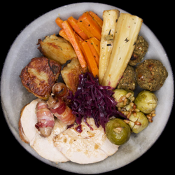 christmas dinner plate png