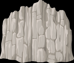 cliff vector drawing