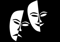 Tragedy And Comedy Theater Masks Icons PNG - Free PNG and Icons ...