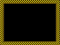 Yellow Black Funky Checker Rectangular Powerpoint Border | 3D Borders