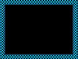 Blue Black Funky Checker Rectangular Powerpoint Border | 3D Borders