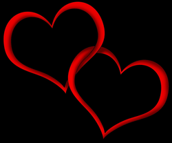Heart Outline Couple Red transparent PNG - StickPNG