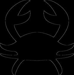 crab silhouette png