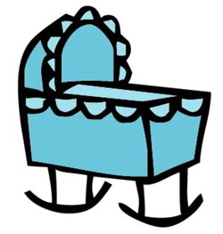 crib clipart cradle