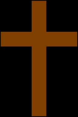 cross clipart brown
