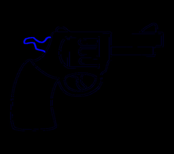 How to Draw a Cartoon Revolver in a Few Easy Steps | Easy Drawing Guides