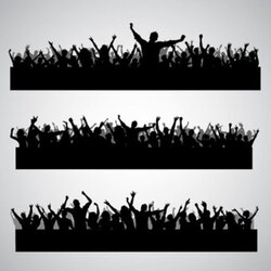 crowd clipart shadow