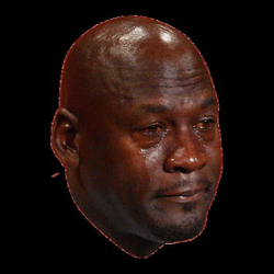 Michael Jordan Crying Face transparent PNG - StickPNG