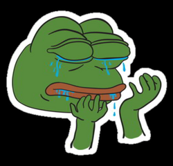 Crying Pepe the Frog | Phone Stickers | Pinterest | Crying, Frogs ...