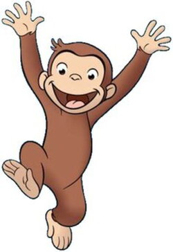 curious george clipart monkey painting