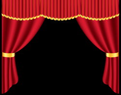Transparent Red Curtain PNG Clipart | Gallery Yopriceville - High ...