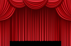 Red Theater Curtains PNG Clip Art - Best WEB Clipart