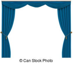 curtain clipart blue curtain