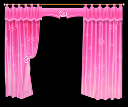 Pink Curtain Clipart