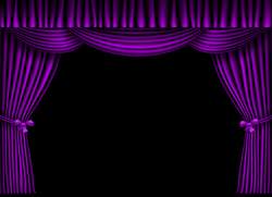 Purple Curtain PNG Clipart Image | Gallery Yopriceville - High ...
