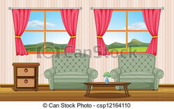 curtains clipart room window