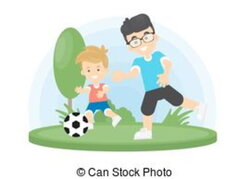 dad clipart football