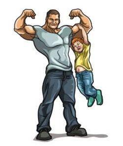 dad clipart strong
