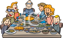 feast clipart wealthy family