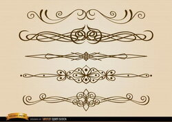 brown clipart divider