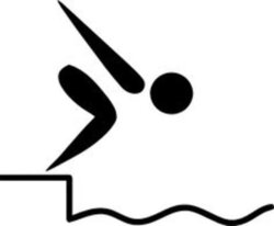 diving clipart competitive swimming
