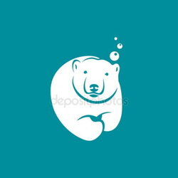 diving clipart polar bear