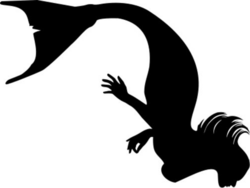 Mermaid Diving Silhouette SVG | Clipart Panda - Free Clipart Images