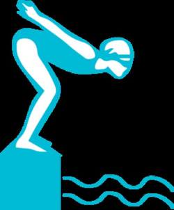 Swimmer Diving Clipart