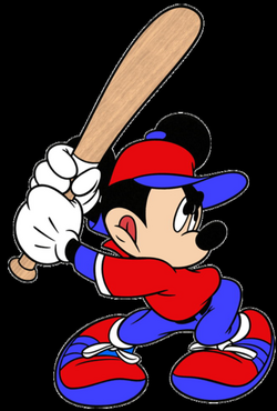 dodgers drawing mickey mouse