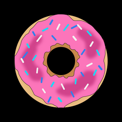 Pink Donut Icons PNG - Free PNG and Icons Downloads