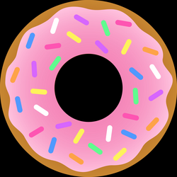 Strawberry Donut With Sprinkles - Free Clip Art