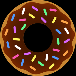 Donut With Sprinkles Clipart
