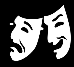 File:Comedy and tragedy masks without background.svg - Wikimedia Commons