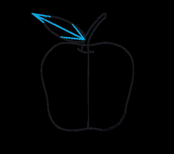 drawing apple step by