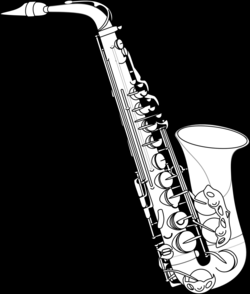 saxaphone drawing musical instrument