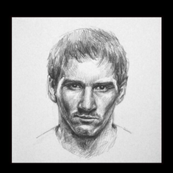 drawing messi portrait