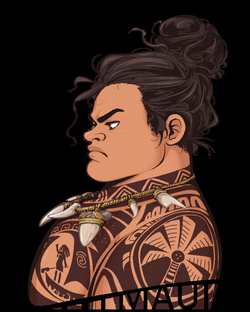 Maui - Serious Hair Bun [Moana] by Skydrathik.deviantart.com on ...