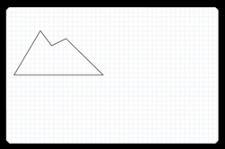 polygons drawing mountain
