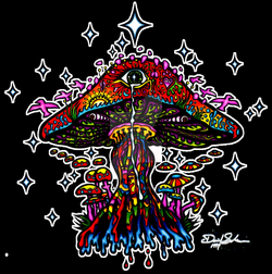 drawing shrooms stoner