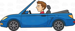 driving clipart two person