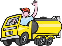 driver clipart gas tanker