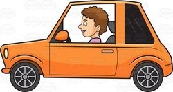driving clipart small car